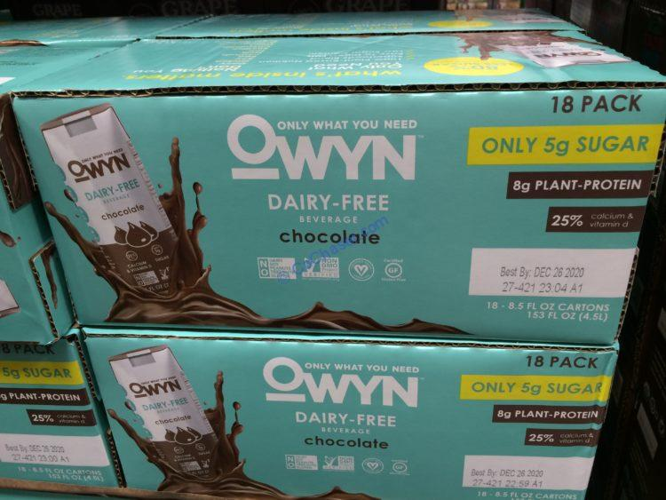 OWYN NON-Dairy Chocolate Beverage 18/8.5 Ounce Box