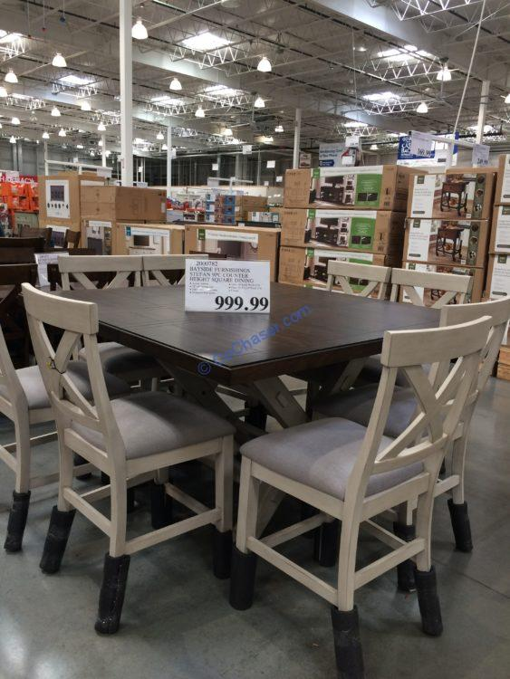 Costco-2000782-Bayside-Furnishings-9PC-Square-Counter-Height-Dining-Set