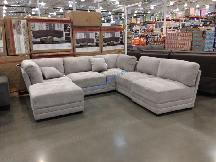 Lenora 6pc Fabric Modular Sectional