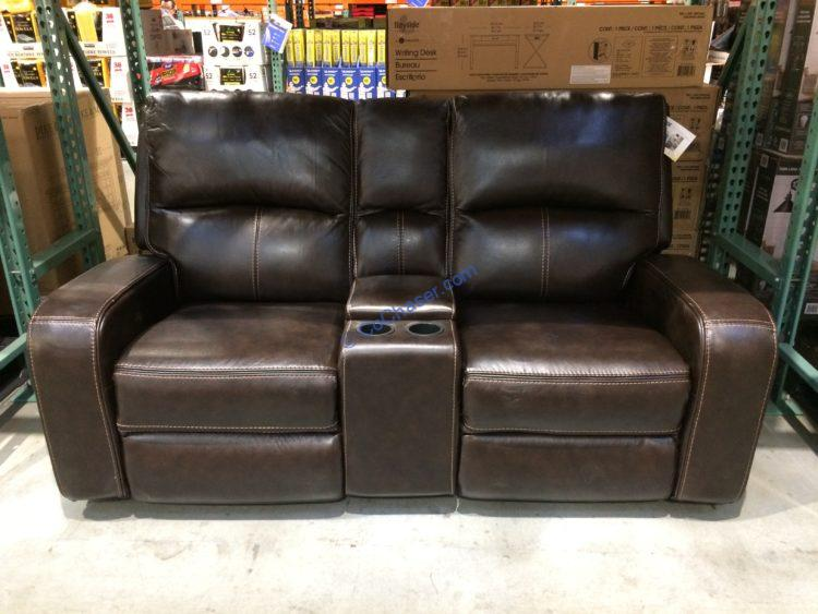 Sawyer Leather Power Reclining Loveseat Costcochaser