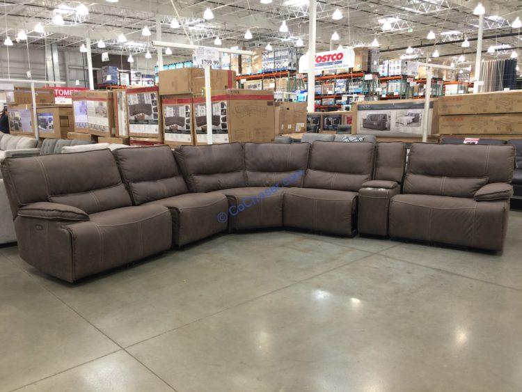 Fabric Power Reclining Sectional with Power Headrest