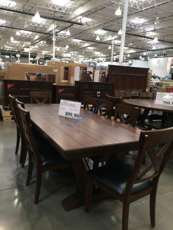 Bayside Furnishings Bolton 9PC Dining Set, Model#CSC9PD-4