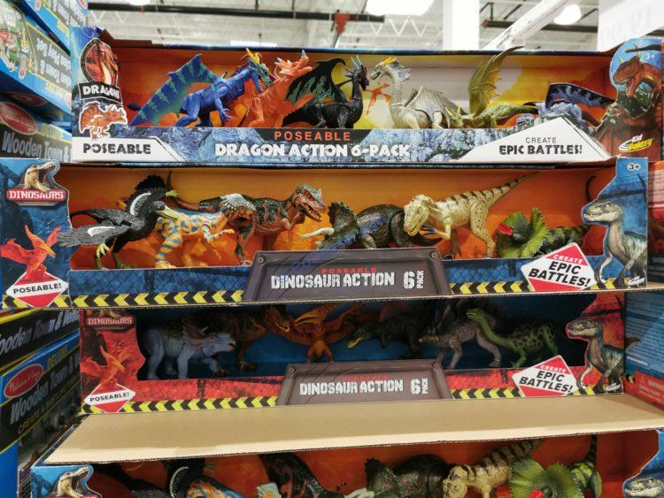 Kid Galaxy Dinosaurs or Dragons 6 Pack Set