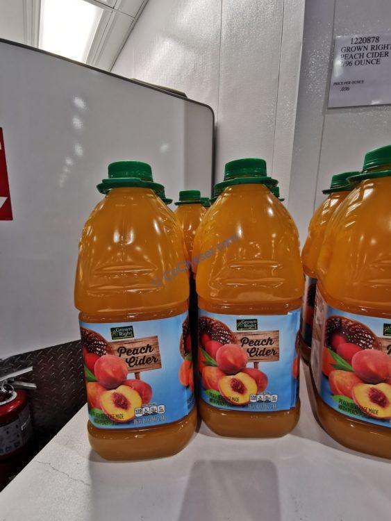 Grown Right Peach Cider 2/96 Ounce