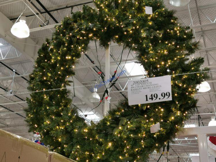 "60"" Pre-Lit Micro LED Artificial Wreath"