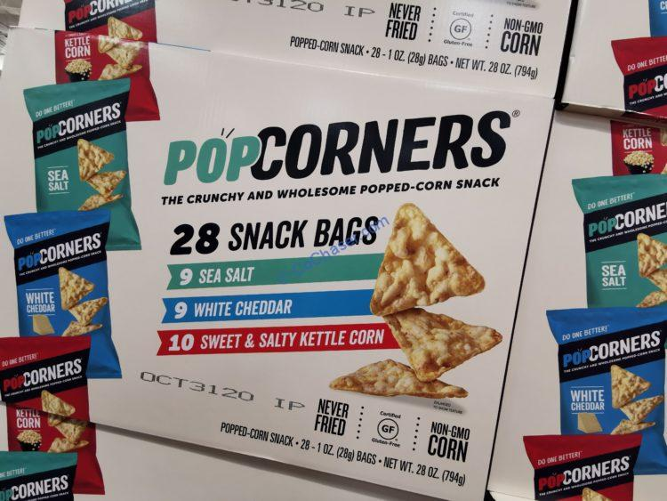 PopCorners Popped-Corn Snack, Variety Pack, 28-count