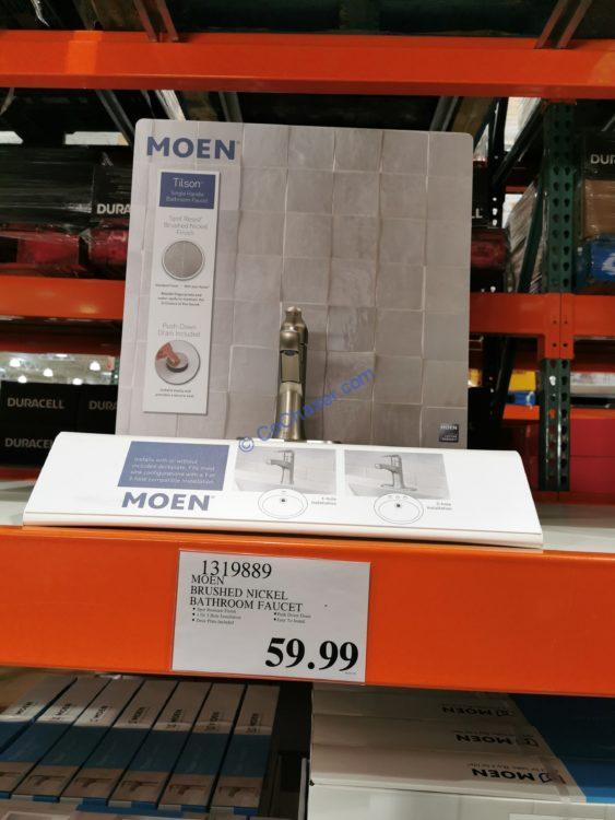 MoenTilson Brushed Nickel Bathroom Faucet