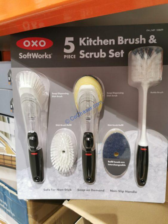 OXO 5-piece Kitchen Brush and Scrub Set