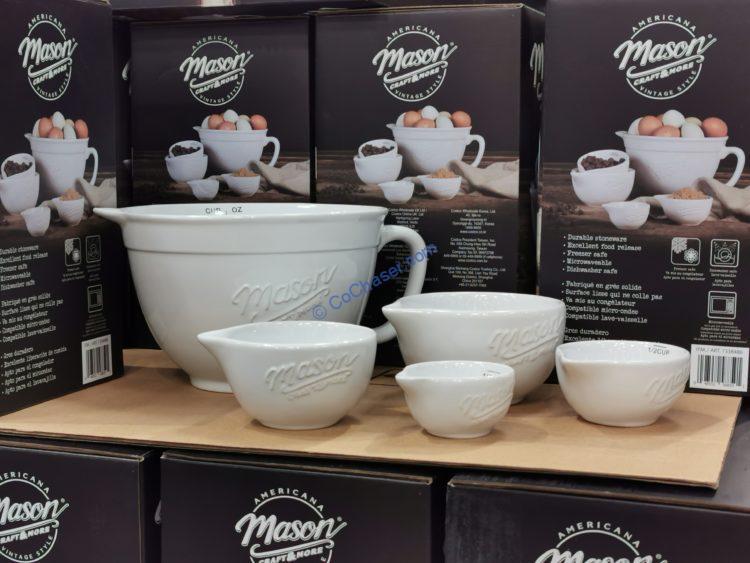 Mason 5-piece Ceramic Batter Bowl and Measuring Cups Set