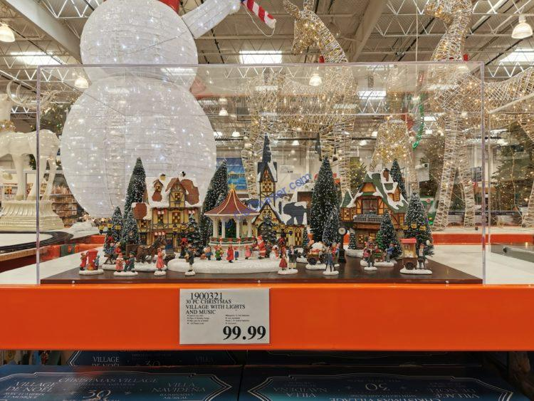 Costco-1900321-Christmas-Village-with-Lights-and-Music