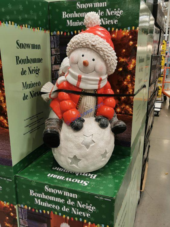 Snowman Greeter on Snowball