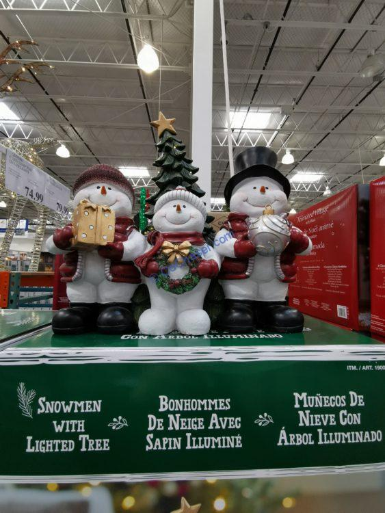 Costco-1900367-Snowmen-Trio-with-Lighted-Tree