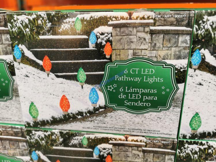 LED Faceted Pathway Lights Set