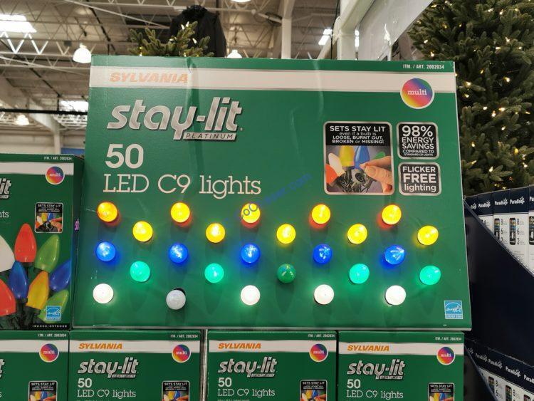Sylvania 50CT Stay-Lit C9 Lights