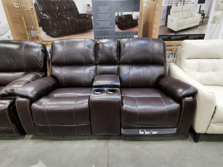 Barcalounger Leather Power Reclining Loveseat