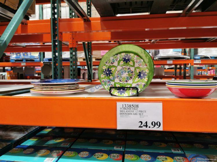 Turkish Tile Melamine 12 Piece Dinnerware Set