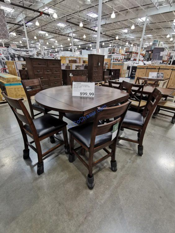 Bayside Furnishings 7PC Square to Round Dining Set