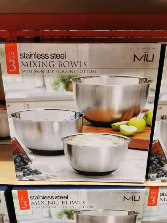 MIU 3 Piece Stainless Steel Mixing Bowls