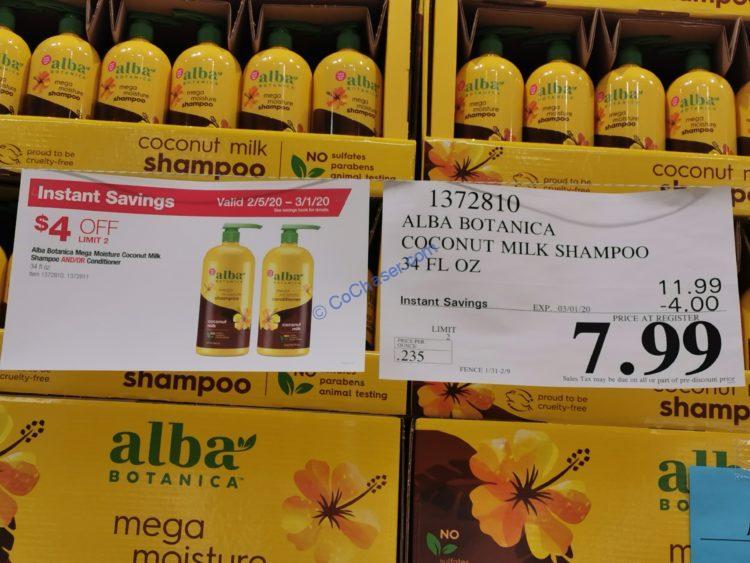 Alba Botanica Coconut Milk Conditioner, 34 fl oz