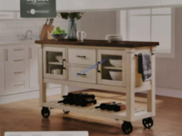 "Bayside Furnishing 60"" Kitchen Cart Model#CSC60KI-3"