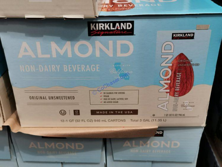 Kirkland Signature Unsweetened Almond Beverage 12/32 Ounce
