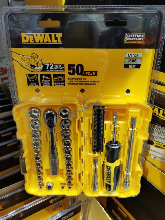 "DeWalt 1/4"" Drive 50-piece Mechanics Set"