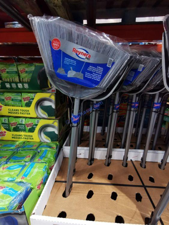 Reynera PRO Broom 3 Pack 2 Brooms/ Dustpan