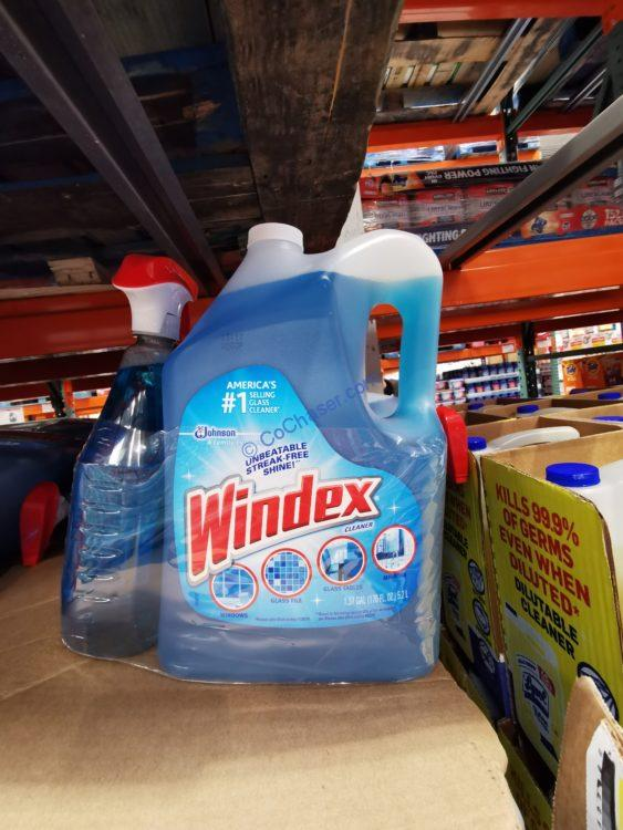 Windex Blue Glass Cleaner, 32 fl oz & 176 fl oz refill