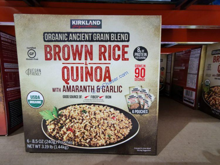 Kirkland Signature Organic Brown Rice & Quinoa, 8.5 oz, 6-count