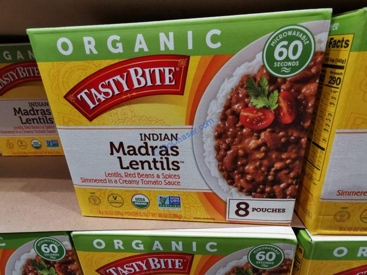 Organic Tasty Bite Madras Lentils, 8/10 Ounce Pouches