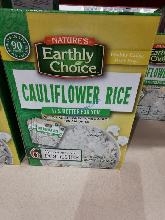 Earthly Choice Cauliflower Rice, 8.5 oz, 6-count