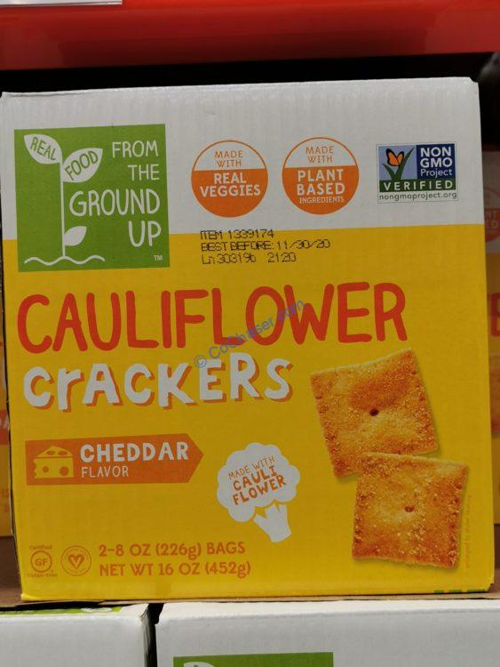 From The Ground up Cauliflower Crackers 2/28 Ounce Boxes