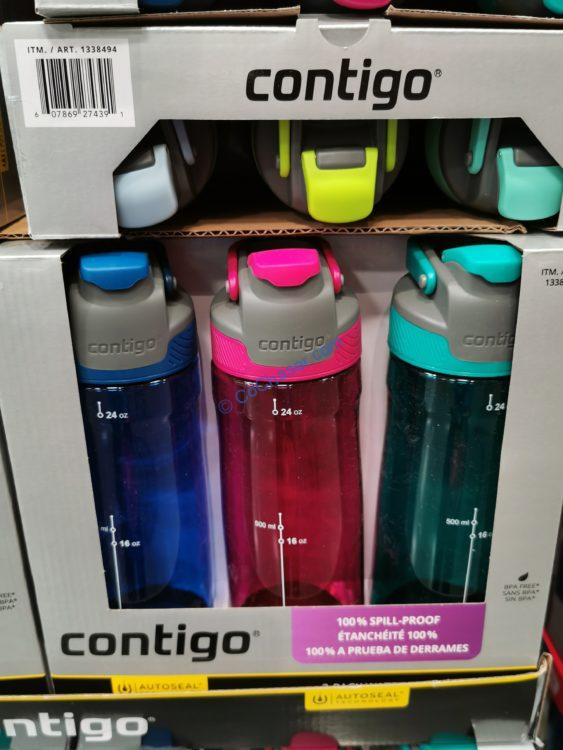 Contigo Autoseal Tritan Water Bottle 3PK