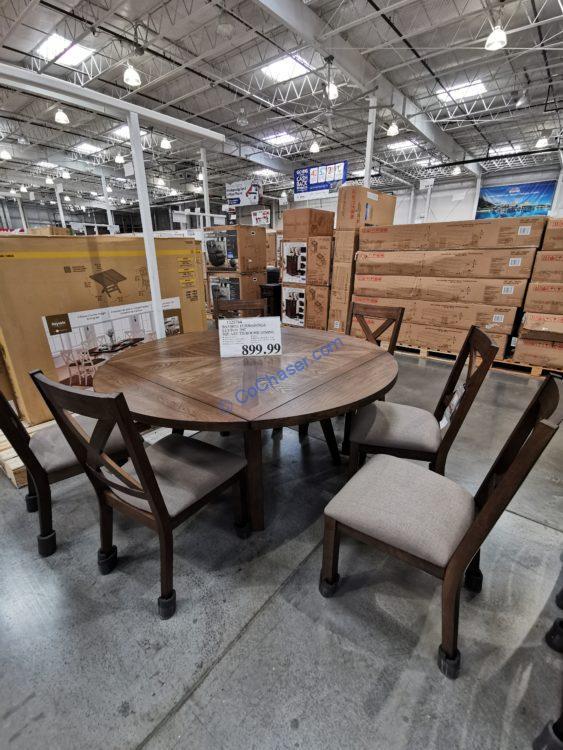 Bayside Furnishings Leyton 7-piece Square to Round Dining Set