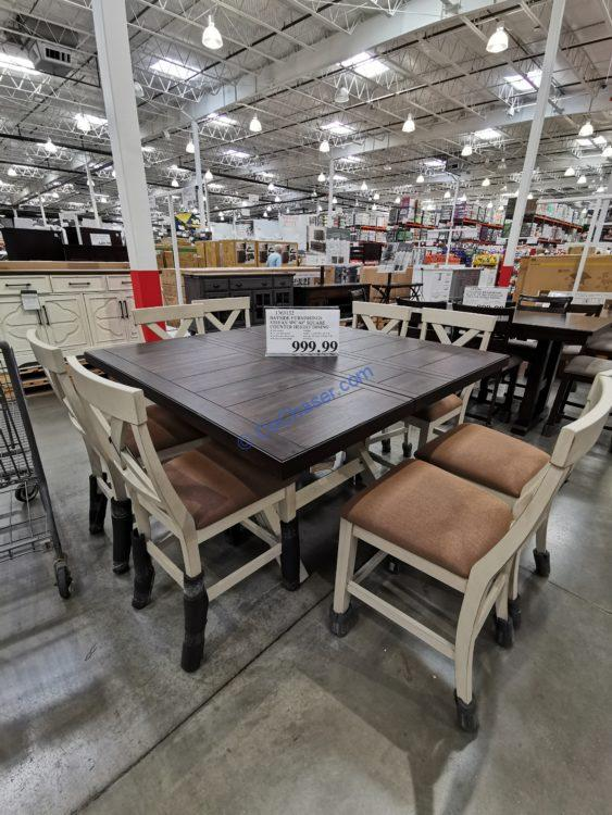 Bayside Furnishings Stefan 9 Piece Counter Height Dining Set Costcochaser