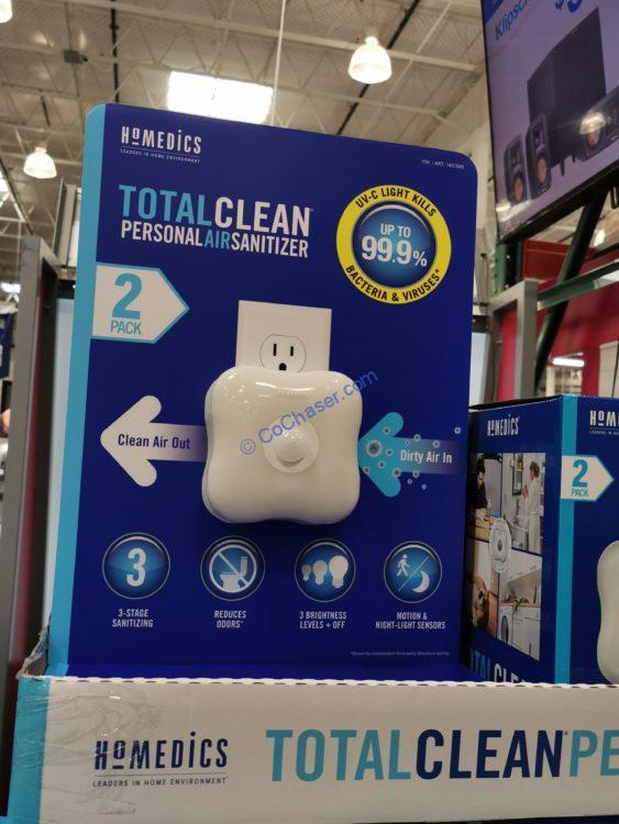 HoMedics TotalClean UV Personal Air Sanitizer 2-Pack