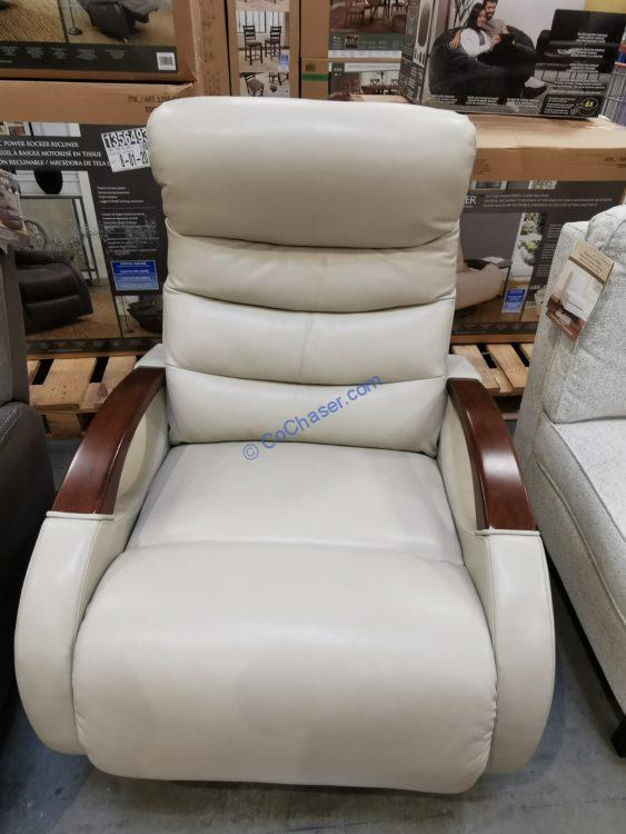 Barcalounger Leather Power Swivel Glider Recliner