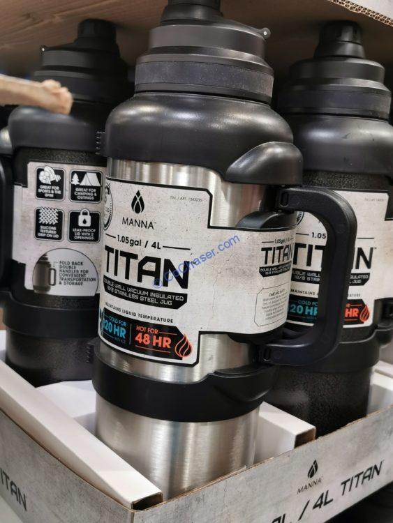 Manna Titan Stainless Steel 1 Gallon Jug