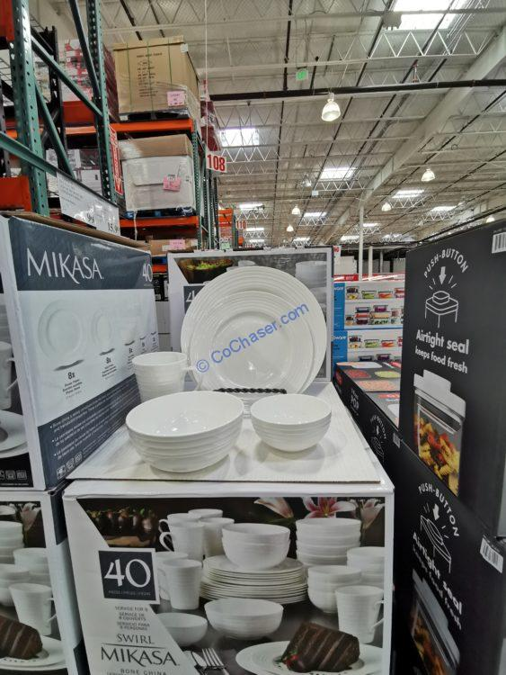 Mikasa Awirl 40-Piece Bone China Dinnerware Set