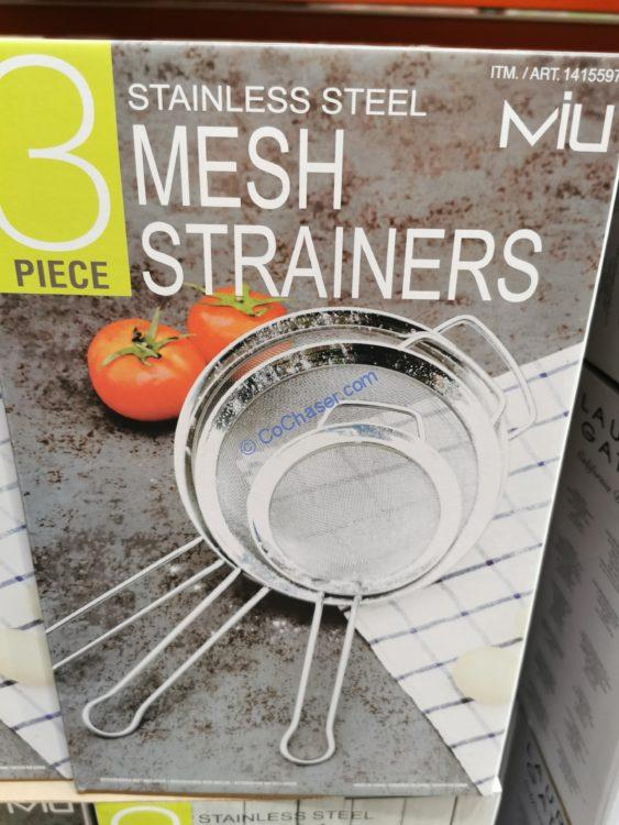 MIU 3PC Stainless Steel Strainer Set