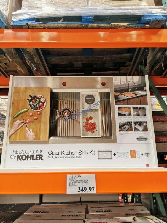 Costco-1316389-Kohler-Kitchen-Sink-Kit-with-Accessories