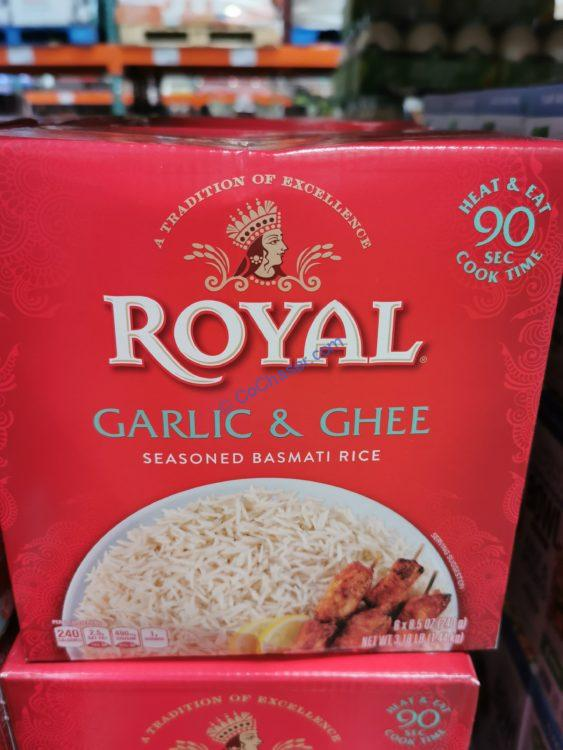 Royal Garlic and Ghee Rice 6/8.5 Ounce Pouches