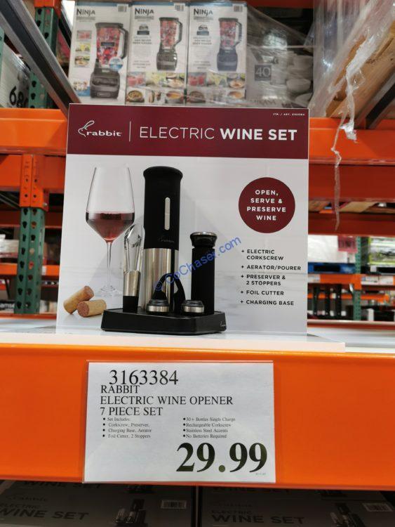 Rabbit Electric Wine Opener 7 Piece Set