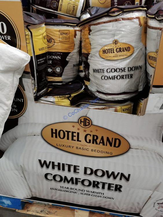 Hotel Grand White Down Goose Down Comforter King or Queen