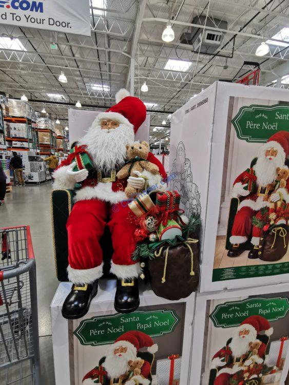 """30"""" Santa in Chair with Gifts"""