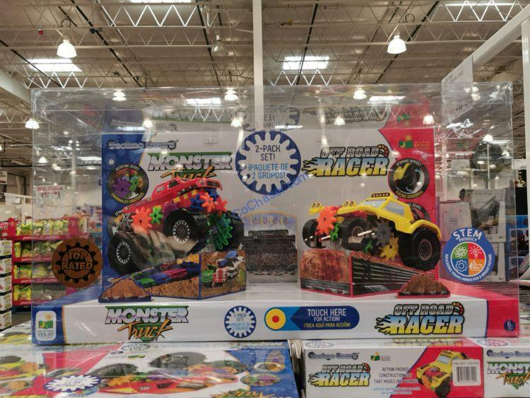 Techno Gears Monster Truck and Off Road Racer Set
