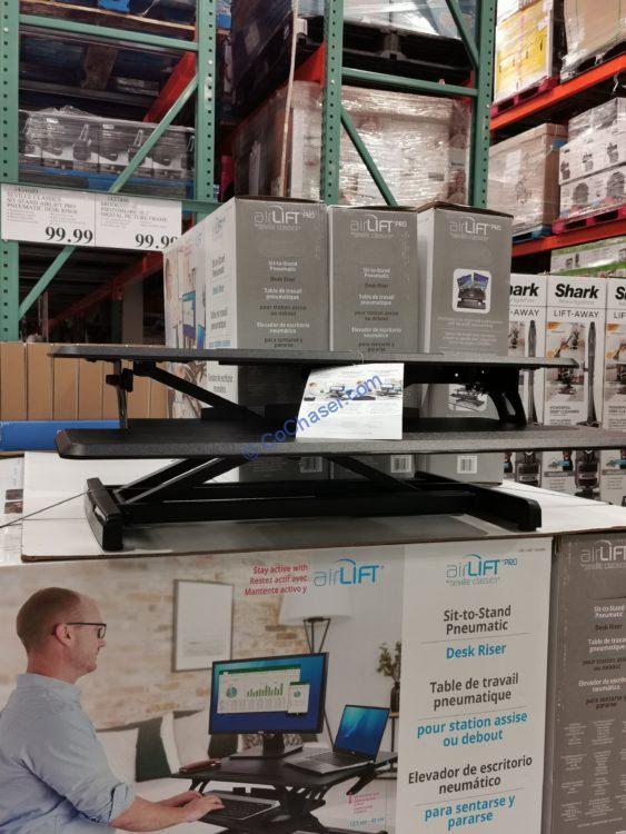 Seville Classics Sit-Stand airLIFT PRO Pneumatic Desk Riser