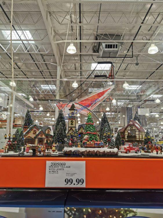 Costco-2005069-Holiday-Village-Set-with-Lights