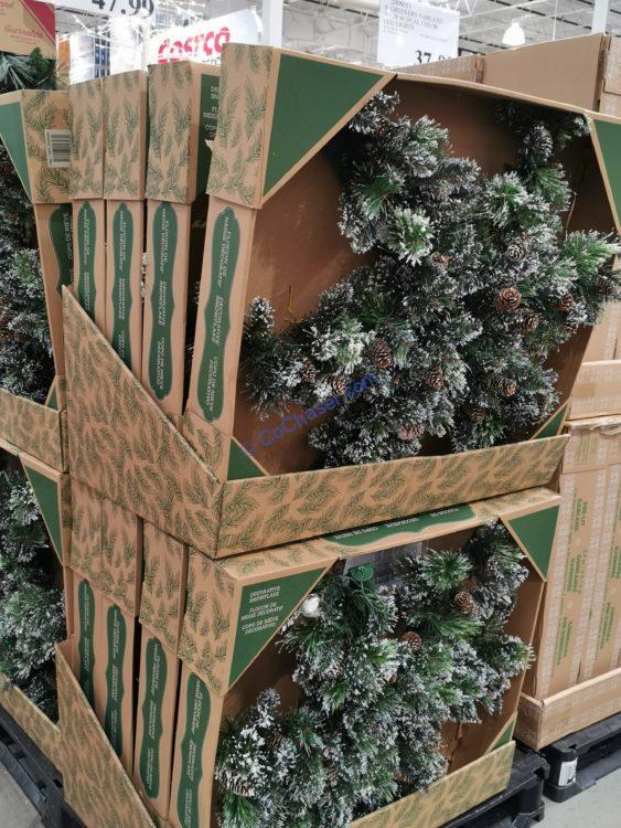 "40"" Pre-Lit LED Decorative Artificial Pine Snowflake"