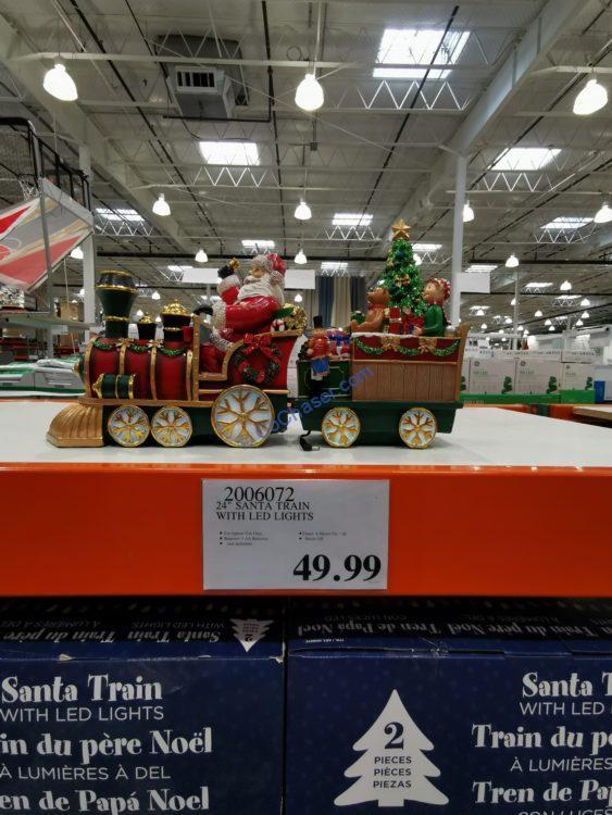 "24"" Santa Train with LED Lights"